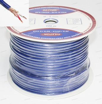 Кабель микроф. стерео DAYTON 2*38*0,1 мм; 64*0,12 мм, CCA, синий