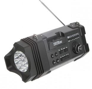 Радиоприемник VIKEND SPORT (220V, 4*R20,аккум.) USB, SD, microSD, AUX-IN, светод.фонарь, Сигнал