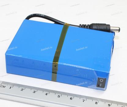 Аккумулятор DC-122000 12V 3000mAh с контроллером заряда и зарядным устройством (90x57x22 mm)
