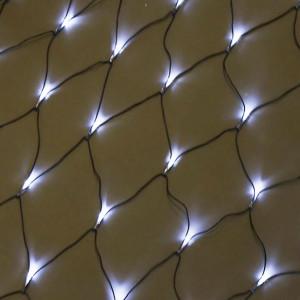 Гирлянда Сеть LED 1,6 х 1,6 м 8 режимов, БЕЛАЯ, чёрный провод, Luazon