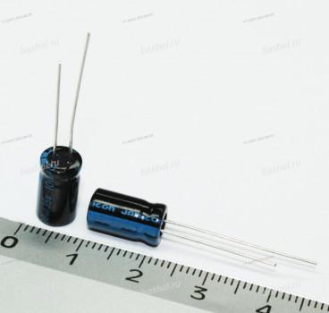 ECAP 100 мкФ / 35 В 6.3x11 TK, Конденсатор электролитический, JAMICON, (аналог К50-35)