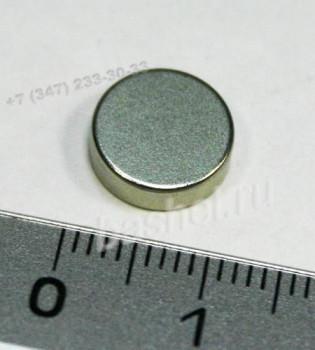 Магнит цилиндрический -027- D-10 H-3 N38 (1,4кг.), неодимовый