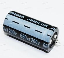 ECAP 680 мкФ / 200 В 22x45 LS, Конденсатор электролитический, JAMICON